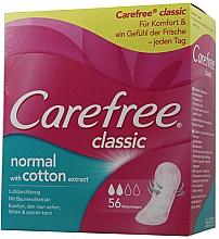 Парфюмерия и Козметика Ежедневни дамски превръзки, 56 бр. - Carefree Classic Normal With Cotton Extract