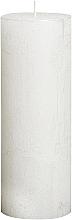 Парфюмерия и Козметика Цилиндрична свещ Metallic White, 190/68 мм - Bolsius Candle