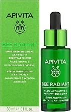 Изсветляващ хидратиращ серум за лице против стареене - Apivita Bee Radiant Glow Activating & Anti-Fatigue Serum — снимка N2