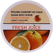 Парфюмерия и Козметика Захарен ексфолиант за тяло - Fresh Juice Orange and Mango