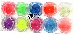 Парфюмерия и Козметика Комплект с флуоресцентни пудри за нокти - Chiodo Pro Puder