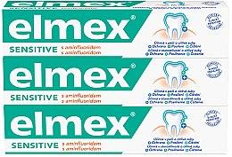 Парфюмерия и Козметика Комплект пасти за зъби - Elmex Sensitive Toothpaste (toothpaste/3x75ml)