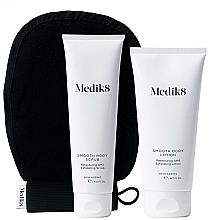 Парфюмерия и Козметика Комплект - Medik8 Smooth Body Exfoliating Kit (скраб/150ml + лосион/200ml + ръкавица)