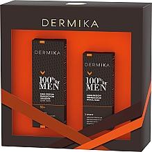 Парфюмерия и Козметика Комплект за лице - Dermika 100% For Men (крем/50ml + околооч. крем/15ml)