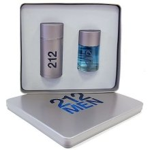 Парфюми, Парфюмерия, козметика Carolina Herrera 212 For Men - Комплект (edt 100 + a/shl 100)