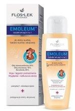 Парфюми, Парфюмерия, козметика Масло за вана - Floslek Emoleum Emo-Oleum Bath Emollient 2in1