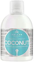 Парфюмерия и Козметика Подхранващ и укрепващ шампоан за коса с кокосово масло - Kallos Cosmetics Coconut Shampoo