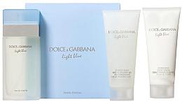 Парфюми, Парфюмерия, козметика Dolce & Gabbana Light Blue - Комплект (edt/100ml + sh/g/100ml + b/cr/100ml)