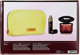 Versace Crystal Noir - Комплект (edt/90ml + edt/10ml + чанта) — снимка N2