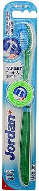 Четка за зъби Medium Target, зелена - Jordan Target Teeth & Gums Medium — снимка N1