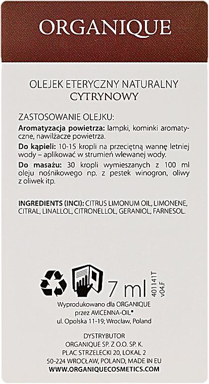 Етерично масло от лимон - Organique Natural Essential Oil Lemon — снимка N3