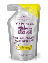 Парфюмерия и Козметика Течен марсилски сапун с аромат на лимон - Ma Provence Liquid Marseille Soap Lemon (пълнител)
