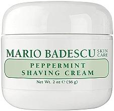 Парфюмерия и Козметика Крем за бръснене с мента - Mario Badescu Peppermint Shaving Cream