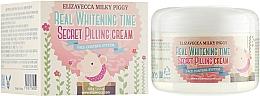 Парфюмерия и Козметика Пилинг крем за лице против пигментни петна - Elizavecca Face Care Milky Piggy Real Whitening Time Secret Pilling Cream