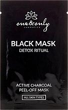 Парфюми, Парфюмерия, козметика Комплект почистващи маски за лице с активен въглен - One&Only Cosmetics For Face Black Mask Detox Ritual
