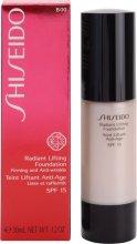 Парфюмерия и Козметика Тонизиращ фон дьо тен с повдигащ ефект - Shiseido Radiant Lifting Foundation SPF 15