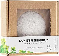 Парфюмерия и Козметика Натурален пилинг камък за тяло, бял - Pierre de Plaisir Natural Scrubbing Stone Body