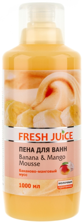 Пяна за вана с аромат на бананов-манго мус - Fresh Juice Banana and Mango Mousse