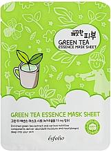 Парфюмерия и Козметика Памучна маска със зелен чай - Esfolio Pure Skin Green Tea Essence Mask Sheet