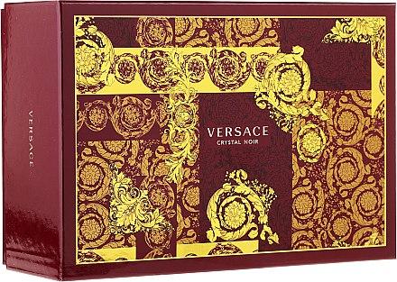 Versace Crystal Noir - Комплект (edt/90ml + edt/10ml + чанта) — снимка N1