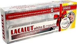 Парфюми, Парфюмерия, козметика Комплект - Lacalut White & Repair Set (паста за зъби/75ml+огледалце)