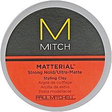 Парфюмерия и Козметика Матираща глина за коса със силна фиксация - Paul Mitchell Mitch Matterial Styling Clay