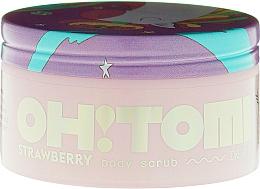 Парфюмерия и Козметика Скраб за тяло с аромат на ягода - Oh!Tomi Dreams Body Scrub Strawberry