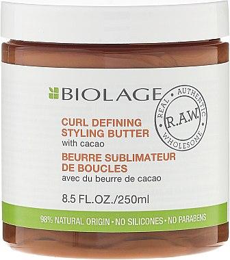 Стилизиращ крем за контрол на къдрицирте - Biolage R.A.W. Curl Defining Styling Butter