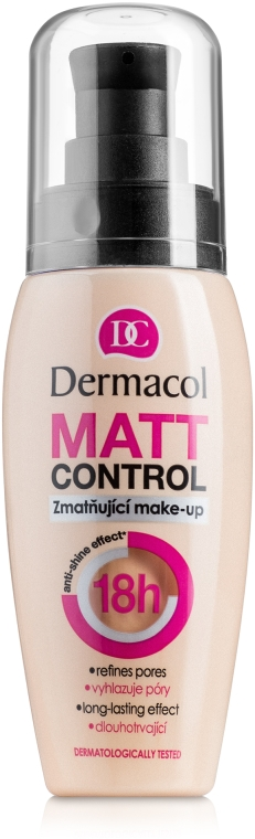 Водоустойчив матиращ крем фон дьо тен - Dermacol Matt Control