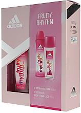 Парфюми, Парфюмерия, козметика Adidas Fruity Rhythm - Комплект (дезодорант/150ml + спрей за тяло/75ml)