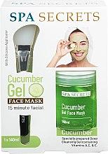 Парфюмерия и Козметика Комплект - Spa Secrets Cucumber Gel Face Mask (mask/140ml + brush/mask/1pcs)