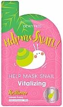 Парфюмерия и Козметика Ревитализираща маска за лице с екстракт от охлюв - Dewytree Help Me Snail! Vitalizing Mask