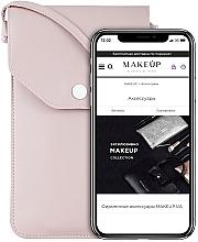"""Парфюмерия и Козметика Чантичка-калъф за телефон, розова """"Cross"""" - Makeup Phone Case Crossbody Powder"""