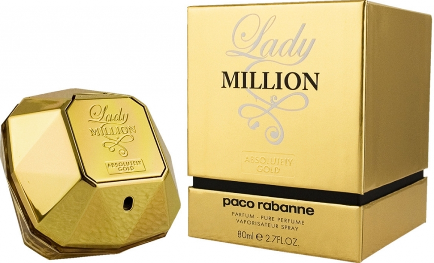 Paco Rabanne Lady Million Absolutely Gold - Парфюм — снимка N1