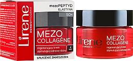 Парфюмерия и Козметика Нощен възстановяващ крем за лице 50+ - Lirene Mezo Collagene