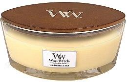 Парфюмерия и Козметика Ароматна свещ в чаша - Woodwick Hearthwick Flame Ellipse Candle Lemongrass & Lily