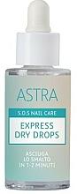 Парфюмерия и Козметика Капки за експресно изсушаване на лак за нокти - Astra Make-up Sos Nails Care Express Dry Drops