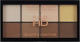 Парфюми, Парфюмерия, козметика Палитра за контуриране на лице - Makeup Revolution HD Pro Sculpt and Contour