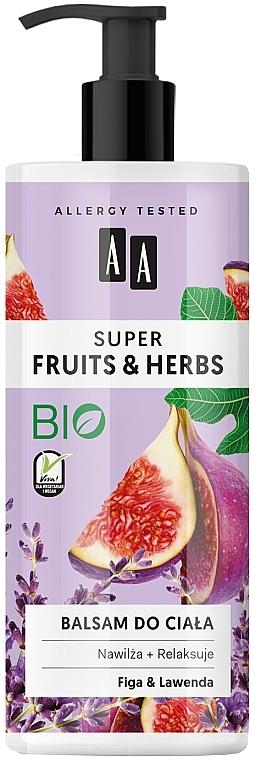 Лосион за тяло със смокиня и лавандула - AA Super Fruits & Herbs Fig And Lavender