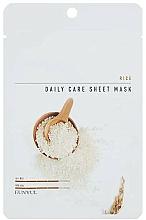 Парфюмерия и Козметика Памучна маска за лице с екстракт от ориз - Eunyul Daily Care Mask Sheet Rice