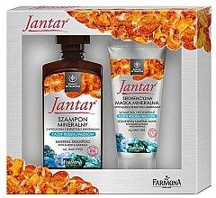 Парфюмерия и Козметика Комплект за коса - Farmona Jantar Mineral (шампоан/330ml+маска/200ml)