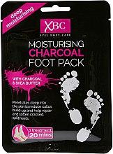 Парфюми, Парфюмерия, козметика Маска-чорапи за крака - Xpel Marketing Ltd Body Care Moisturising Charcoal Foot Pack