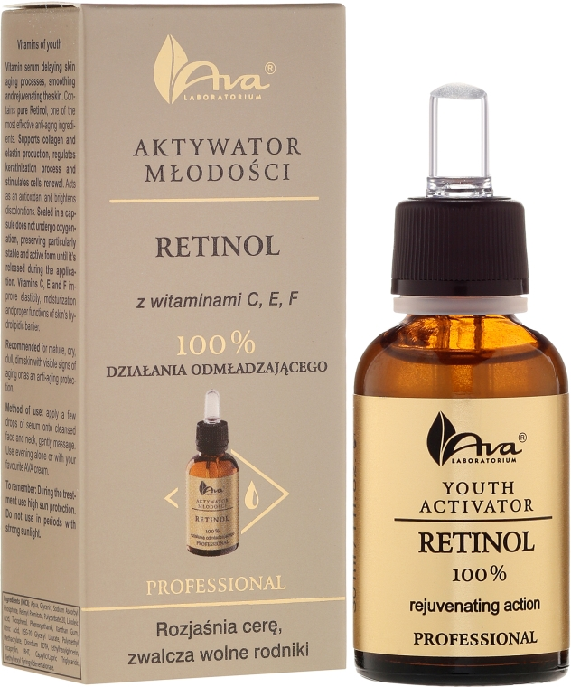 Подмладяващ серум за лице с ретинол - Ava Laboratorium Youth Activators Serum