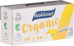 Парфюми, Парфюмерия, козметика Органични мини тампони без апликатор, 16 бр - Vuokkoset Organic Mini Tampons