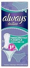 Парфюмерия и Козметика Ежедневни дамски превръзки, 28 бр. - Always Dailies Fresh & Protect Flexistyle Normal