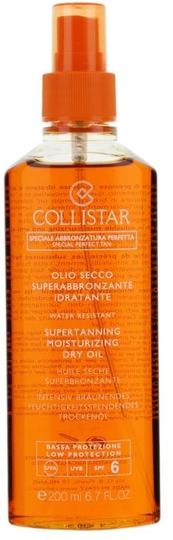 Сухо масло за интензивен тен - Collistar Supertanning Moisturizing Dry Oil SPF6 200ml — снимка N1