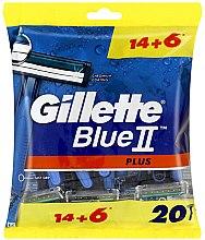 Парфюми, Парфюмерия, козметика Комплект самобръсначки, 14+6 бр. - Gillette Blue II