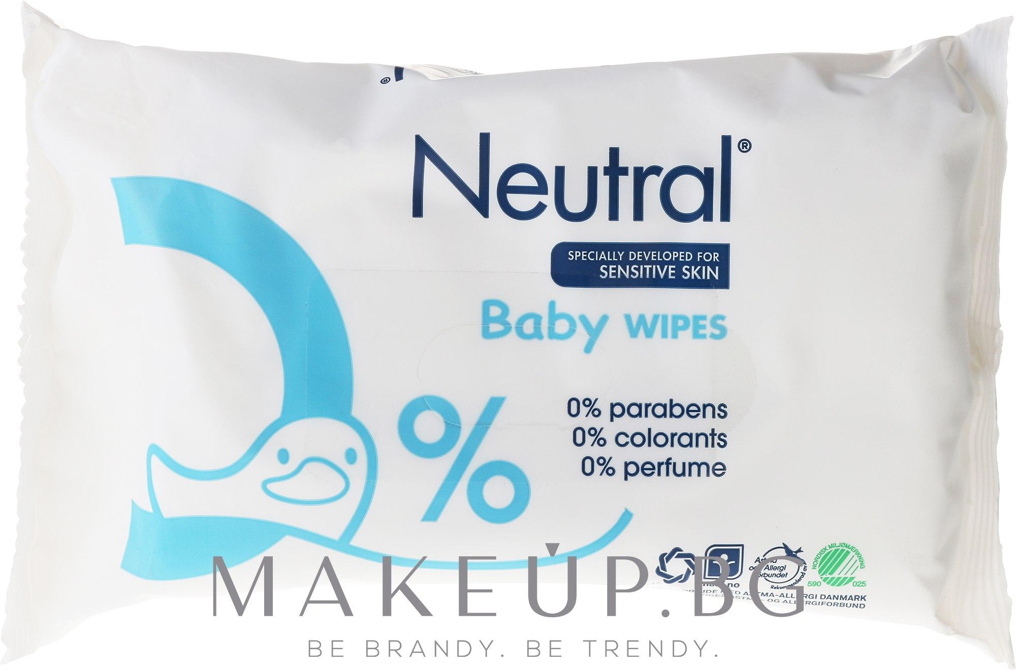 Детски мокри кърпички - Neutral Baby Wet Wipes — снимка 63 бр
