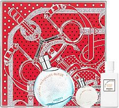 Парфюмерия и Козметика Hermes Eau des Merveilles Bleue - Комплект (тоал. вода/50ml + лосион за тяло/40ml + тоал. вода/7.5ml)