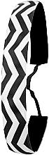 Парфюмерия и Козметика Лента за коса, черно-бяла - Ivybands Chevron Black White Hair Band
